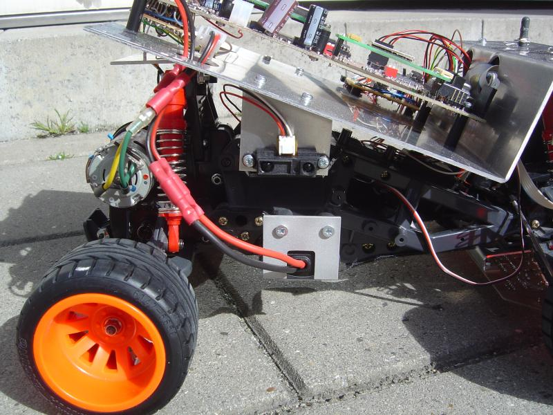 Robot rear end from side